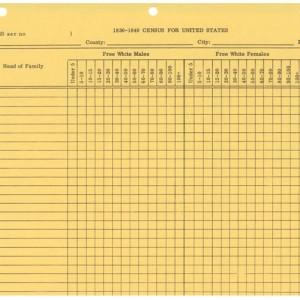 Census Form, 1830 – 1840 U.S. – Stevenson Genealogy & Copy Center ...