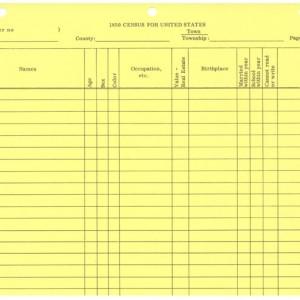 Census Form, 1850 U.S. – Stevenson Genealogy & Copy Center L.L.C.