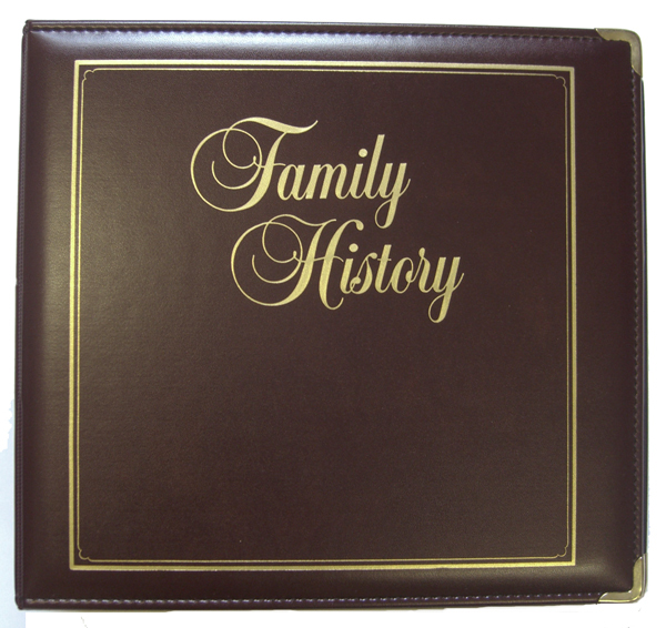 Executive Family History, letter size
